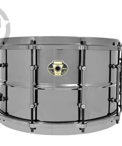 Ludwig Black Magic 13x7 LW0713 Cast Brass Ottone Black Nickel tube lugs plated smooth shell snare snaredrum rullante drumsnare