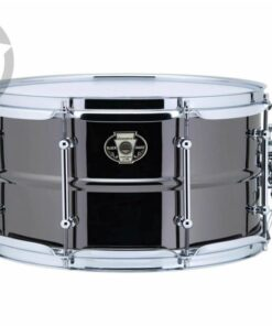 Ludwig Black Magic 13x7 LW0713C Cast Brass Ottone Black Nickel tube lugs plated smooth shell snare snaredrum rullante drumsnare