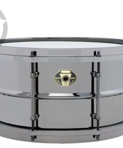 Ludwig Black Magic 14x8 LW0814 Cast Brass Ottone Black Nickel tube lugs plated smooth shell snare snaredrum rullante drumsnare