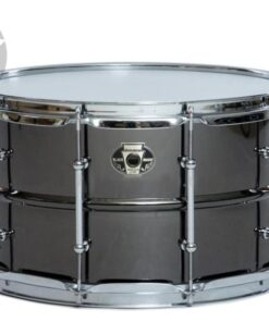 Ludwig Black Magic 14x8 LW0814C Cast Brass Ottone Black Nickel tube lugs plated smooth shell snare snaredrum rullante drumsnare