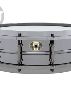 Ludwig Black Magic 14x5.5 LW5514 Cast Brass Ottone Black Nickel tube lugs plated smooth shell snare snaredrum rullante drumsnare
