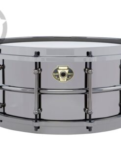 Ludwig Black Magic 14x6.5 LW6514 Cast Brass Ottone Black Nickel tube lugs plated smooth shell snare snaredrum rullante drumsnare