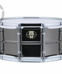Ludwig Black Magic 14x6.5 LW6514C Cast Brass Ottone Black Nickel tube lugs plated smooth shell snare snaredrum rullante drumsnare