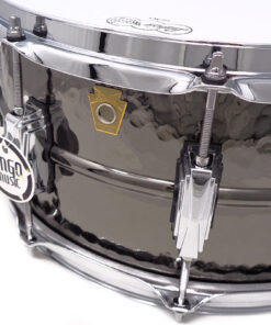 Ludwig Black Beauty LB417K 14x6.5 Brass Black Nickel plated hammered shell snare snaredrum rullante drumsnare