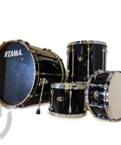 "Tama Superstar Birch Custom Lacquer 24"" Piano Black 4pz Drum Drums Drumset Batteria"