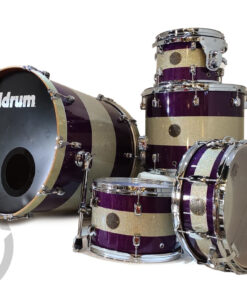 "DDrum Dios Bubinga/Birch 22"" Purple Stripes Sparkle Lacquer 5pz drum drums drumkit batteria"