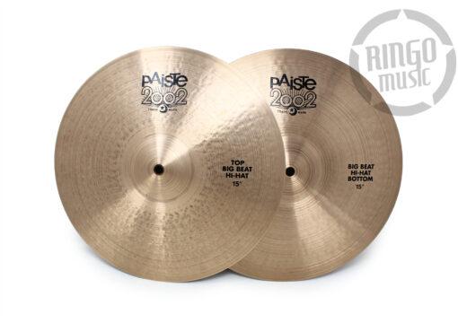 "Paiste 2002 Black Big Beat Hi-hat 15"" Piatto Piatti Cymbal Cymbals"