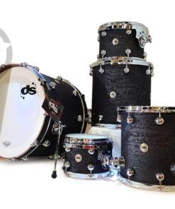 DrumSound DS Rebel 22 Maple Walnut Exotic Tamo Ash 5pz Drums Drumset Batteria