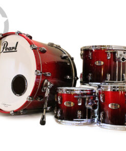"Pearl Reference 22"" Scarlet Fade Lacquer 4pz Lacquer 4pz Drum Drums Drumset Batteria"